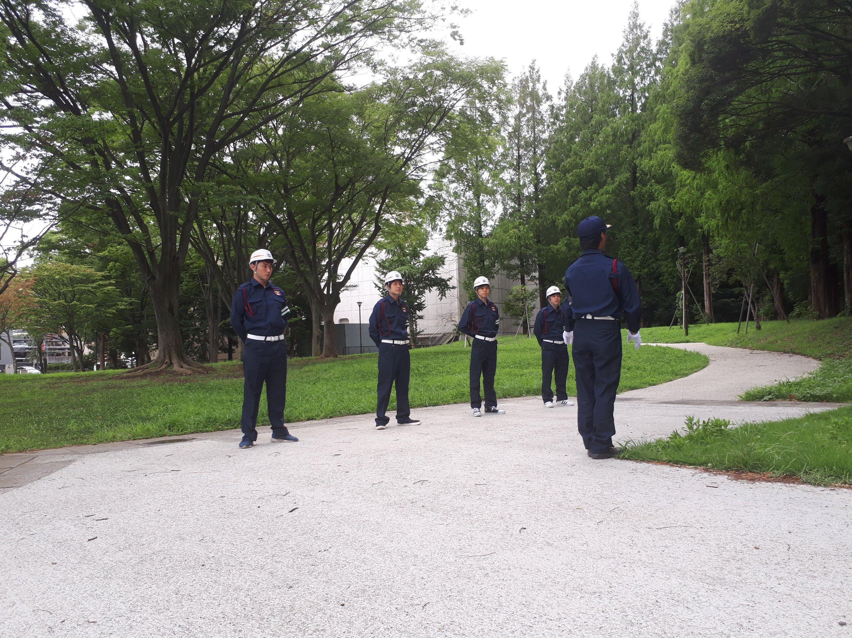 研修風景 (横浜・警備)