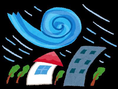 【猛烈台風15号!!】朝の沢渡公園の状況